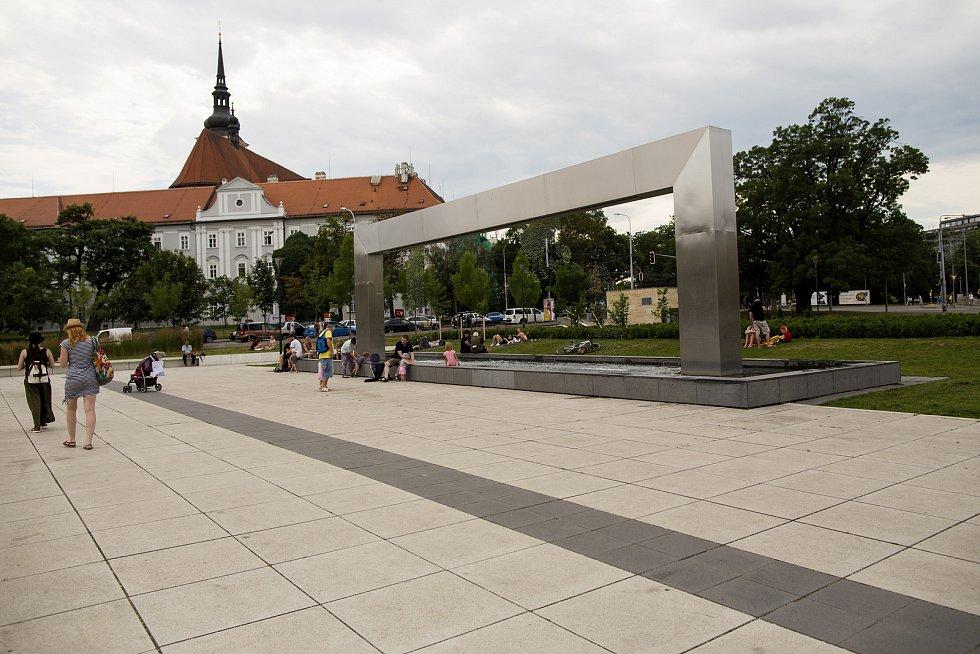 Fontána u Janáčkova divadla v Brně.  Ilustrační foto.