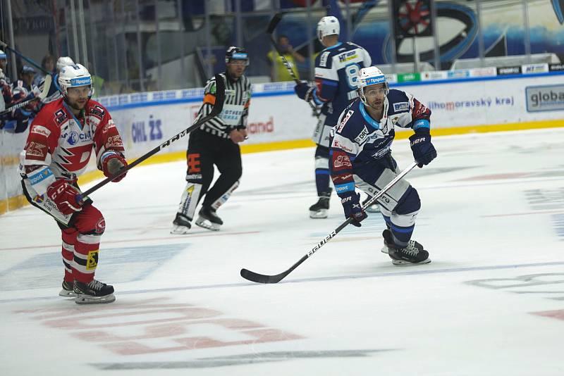 Hokejový zápas mezi brněnskou Kometou a HC Dynamo pardubice