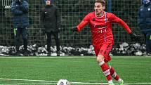Líšeňský útočník Jan Šteigl nastoupil v přípravě i proti Prostějovu, nad kterým Brňané vyhráli 2:1.