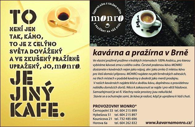 6. Kavárna Monro Brno