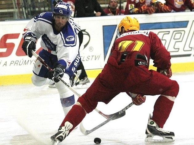 Hokejoví hráči Komety Brno porazili Trenčín 6:1.