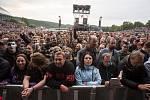 Koncert americké rockové skupiny Kiss na brněnském výstavišti.