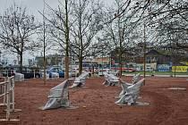 Park u Nových sadů v centru Brna po rekonstrukci.
