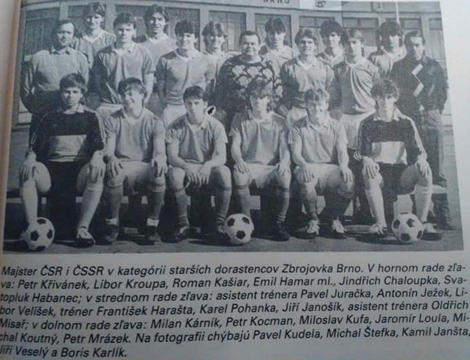 Zbrojovka Brno získala v sezoně 1987/1988 mistrovský titul ve federální dorostenecké lize.