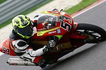 Motocyklový závodník Petr Svoboda.