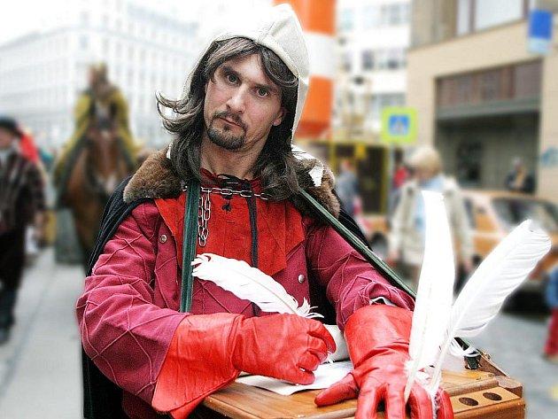 PÍSMOMALÍŘ. Povolání písaře bylo ve středověku spíše ceněným uměním než obyčejným řemeslem.