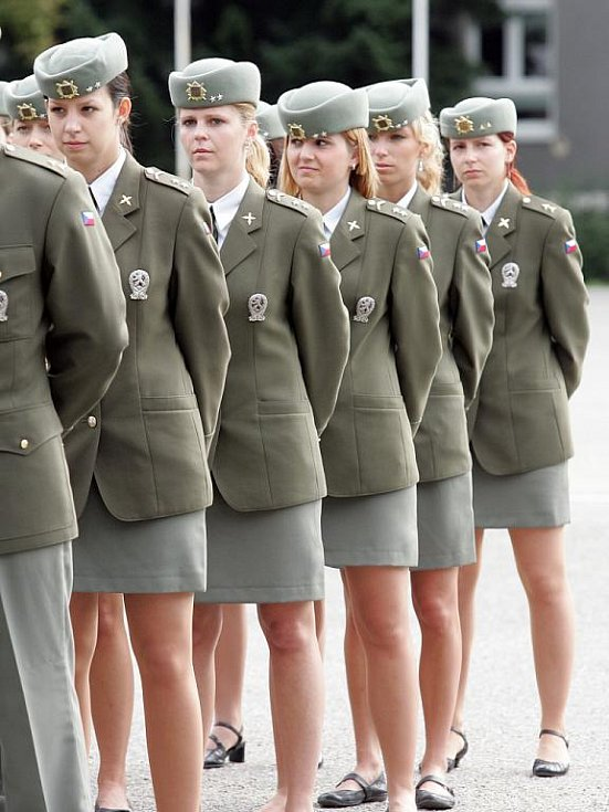Slavnostní vyřazení studentů brněnské Univerzity obrany.