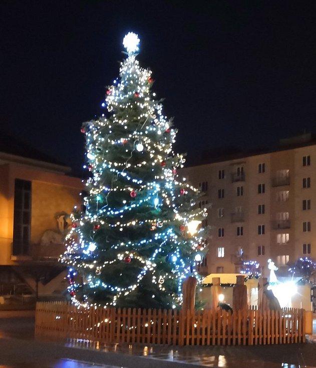 Vánoční strom v Blansku.