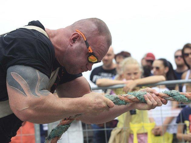 Mezinárodním mistrovství České republiky Strongman v Brně.