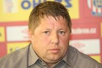 Trenér Zbrojovky Petr Čuhel.