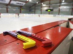 Hokejová hala dětí a mládeže za Lužánkami.