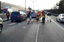 Nehoda na 190. kilometru zablokovala dopravu.