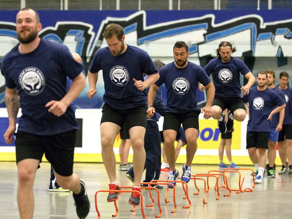 V pondělí začala letní příprava extraligových hokejistů Komety Brno.