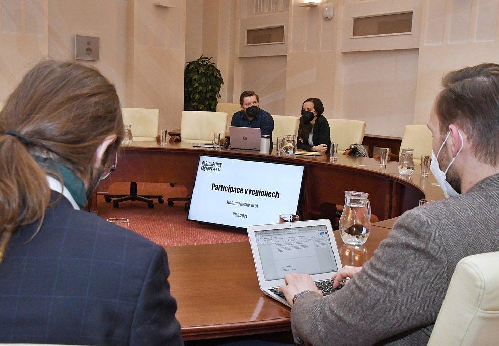 Workshop na téma participativního plánování na krajském úřadu v Brně, 30. března 2021.