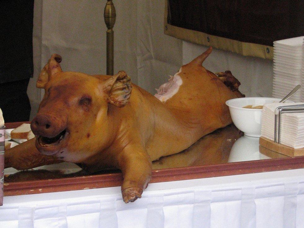 Slavnosti jídla na brněnském náměstí Svobody. Ilustrační foto.