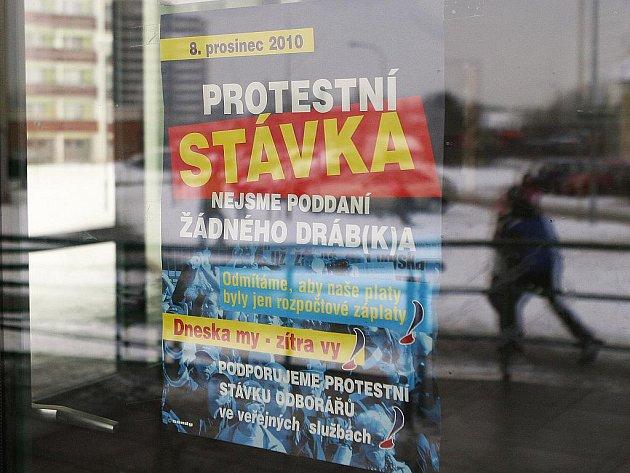 Stávka v Brně - ilustrační fotografie.