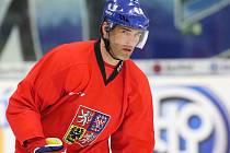 Hokejová reprezentace trénovala v Brně.