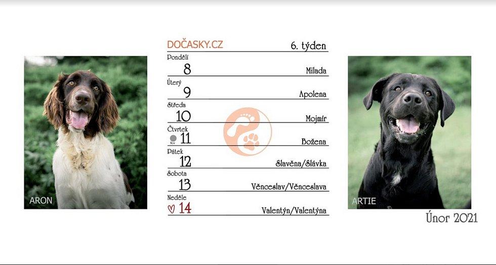 Stolní kalendář Dočasek pro rok 2021.