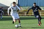 Poslední vzájemný zápas Líšně (bílá) a Blanska letos v únoru skončil nerozhodně 1:1.