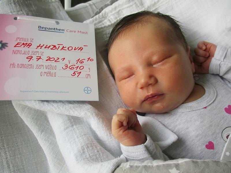 Ema Hubíková, 9. 7. 2021, Prušánky, Nemocnice Břeclav, 3610 g, 51 cm
