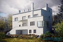 Vizualizace Münzovy vily po rekonstrukci.