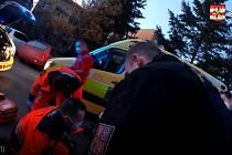 Záchrana muže se srdeční zástavou v brněnských Žabovřeskách.
