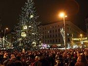 Brněnské Vánoce zahájili na náměstí Svobody.