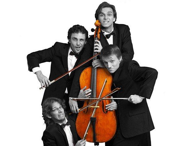 Soubor Prague Cello Quartet zahraje na hlavní scéně Rosa Coeli v sobotu od 19.00 hodin.