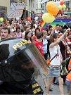 První český průvod gayů a lesbiček