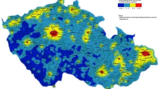 Mapa Svetelneho Smogu Brno Kryje Hvezdy Denik Cz