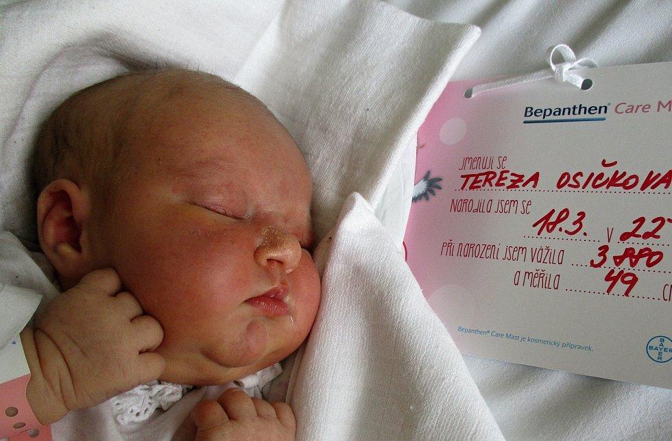 Tereza Osičková, 18. 3. 2021, Velké Bílovice, Nemocnice Břeclav, 3880 g, 49 cm