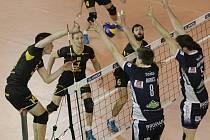 Volejbalisté Brna prohráli domácí odvetné utkání 2. kola Poháru CEV s Tours 1:3 po setech 19:25, 14:25, 25:22 a 23:25.