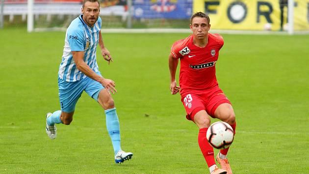 29. kolo F:NL: Prostějov (modro-bílá) - Zbrojovka (červená - Jakub Šural) 0:0