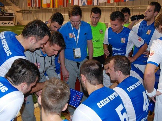 Česká reprezentace malého fotbalu. Ilustrační foto.