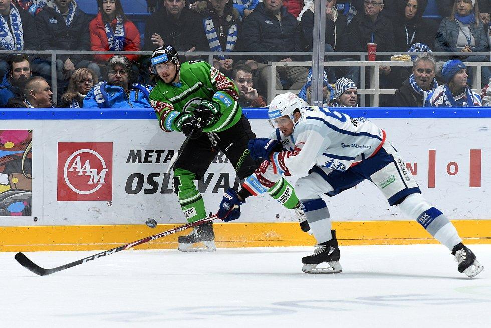 Brno 31.1.2020 - domácí HC Kometa Brno (bílá) proti BK Mladá Boleslav (zelená)
