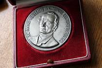 Johann Gregor Mendel - pamětní medaile.
