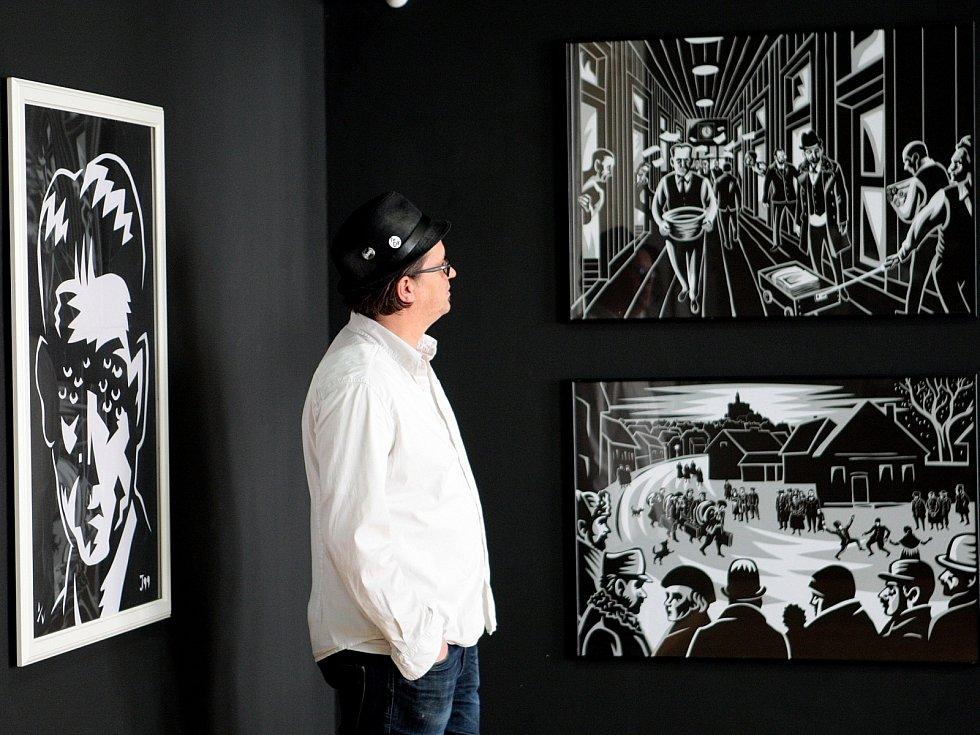 Výstava Jaromíra Švejdíka vystupujícím pod uměleckým jménem Jaromír 99 představuje komiksy i osobitou volnou tvorbu autora.