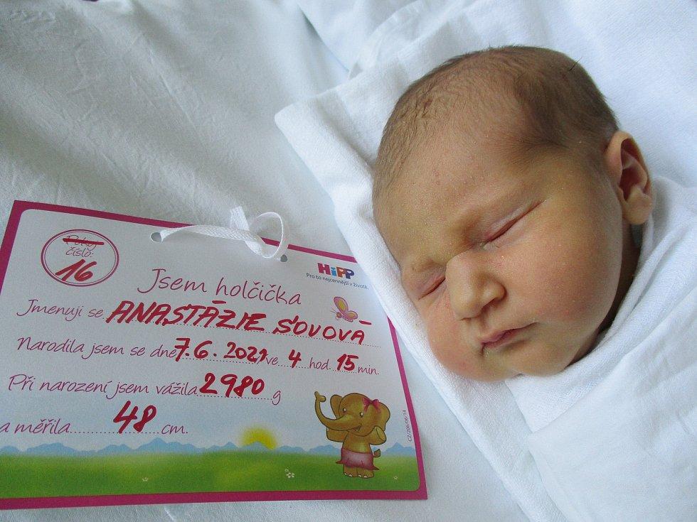 Anastázie Sovová, 7. června 2021, Bzenec, Nemocnice Břeclav, 2980 g, 48 cm