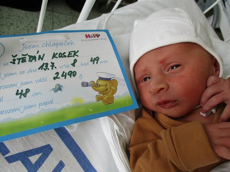 Štěpán Kosek, 13. 7. 2021, Lanžhot, Nemocnice Břeclav, 2490 g, 48 cm