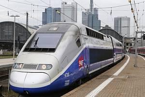 Francouzský vlak TGV. Ilustrační foto.