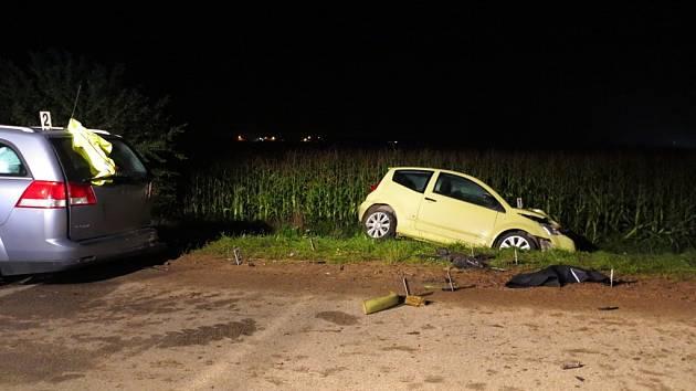 Nehoda skončila smrtí řidičky.