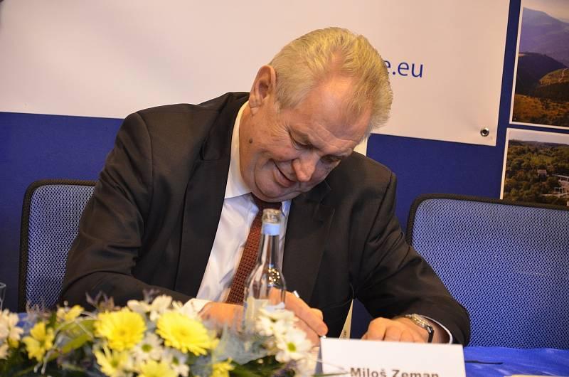Prezident Miloš Zeman na Blanensku.