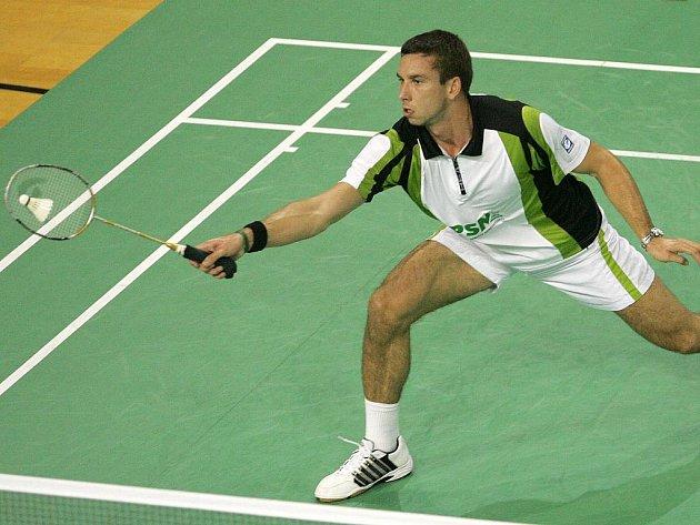 Hráč brněnského badmintonového oddílu Sokol Jehnice Petr Koukal.