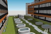 Vizualizace biobanky, kterou univerzita buduje v bohunickém univerzitním kampusu.