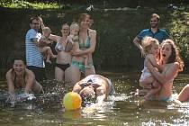 Evropský den koupání v řekách. Lidé si užili přírodní koupání i ve Svratce u brněnského pavilonu Anthropos.