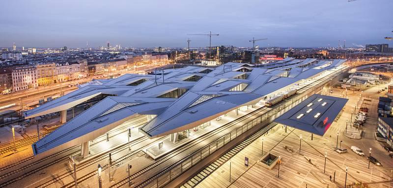Albert Wimmer (Vídeň): Vídeň hlavní nádraží, Rakousko.