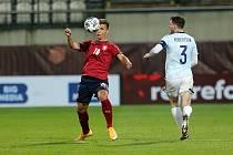 Brněnský útočník Antonín Růsek nastoupil do utkání proti Skotsku v 80. minutě.