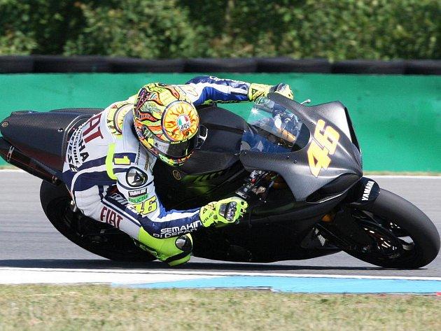Valentino Rossi na automotodromu v Brně.