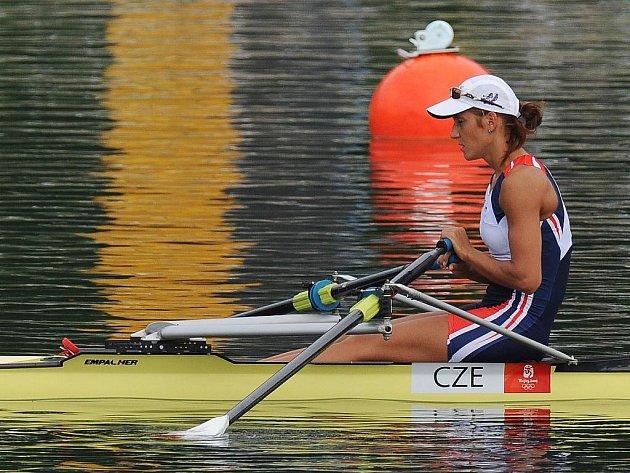 Skifařka Mirka Knapková na olympijské regatě v Pekingu.