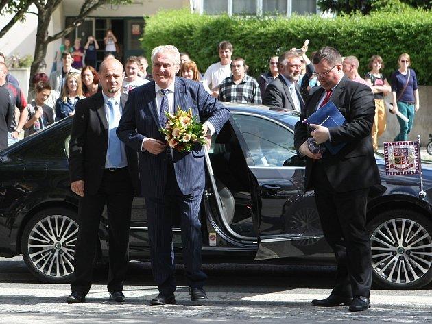 Prezident Miloš Zeman navštíví jižní Moravu.
